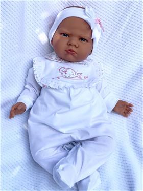 Dr Kid Baby Girls Babygrow DK177 White