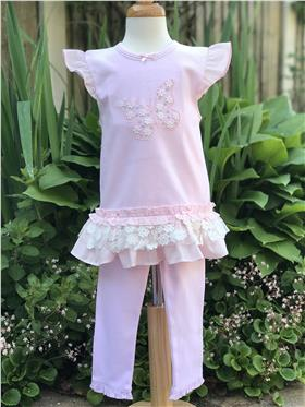 Mintini girls dress and leggings MB3272 Pink