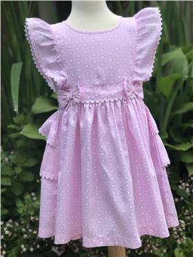 Brecrest Girls Heart Print Dress NN0150 Pink