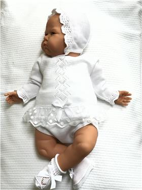 Macilusion baby girls outfit 7628-20 White