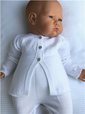 Macilusion baby girls cardigan 7655-20 White