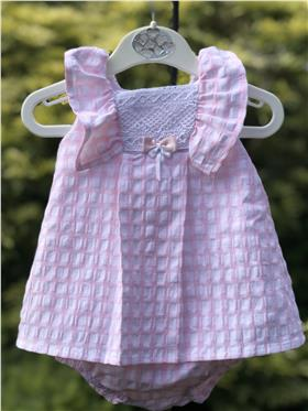 Sulfy baby girls summer dress & knicks 8300-19 Pink