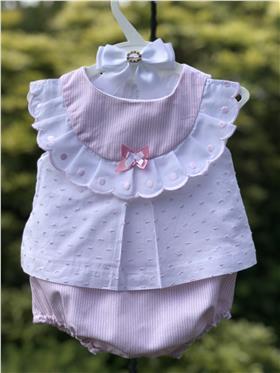 Sulfy baby girls summer dress & knicks 8307-19 Pink