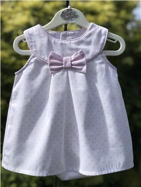 Sulfy baby girls summer dress & knicks 8302B-19 Pink