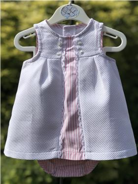 Sulfy baby girls summer dress & knicks 8313B-19 Pink