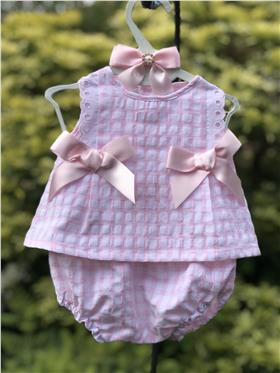 Sulfy baby girls summer dress & knicks 8301-19 Pink