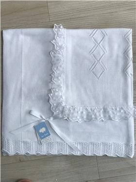 Macilusion baby girls shawl 7684-20 White