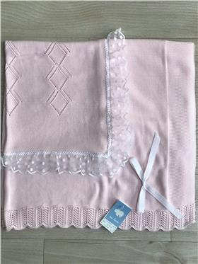 Macilusion baby girls shawl 7684-20 Pink