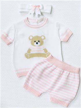Dr Kid girls two piece short 119-17 pink