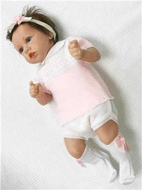 Pex baby girls knitted outfit Zula B6609 PK-WH