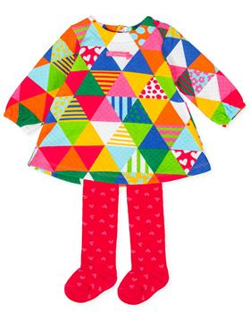 Agatha Ruiz girls dress and tights 1395-20