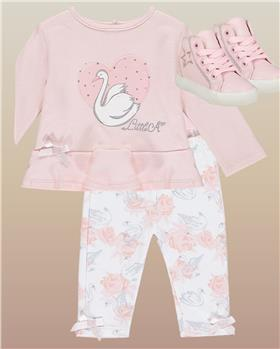 Little a Dee girls legging set LW20501-20 Pink