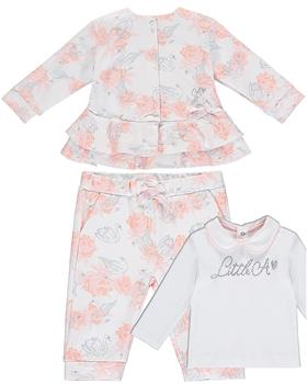 Baby a Dee girls top & tracksuit LW20400-20505-20 White