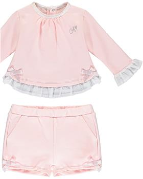 Baby a Dee girls short set LW20503-20 Pink