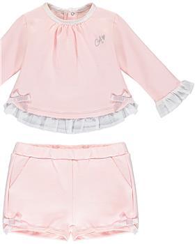 Baby a Dee girls short set LW20503-20 Pink
