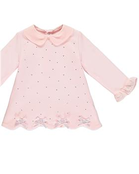 Baby a Dee girls sparkle dress LW20701-20 Pink