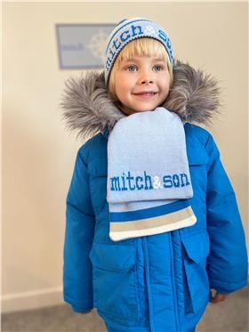 Mitch & Son boys hat & scarf MS1418-20 Blue