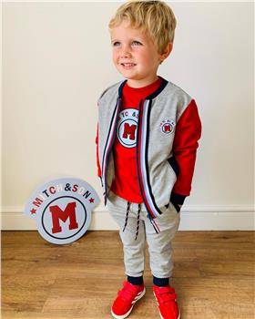 Mitch & Son boys tracksuit & top MS1447-1450-20 Red