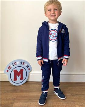 Mitch & Son boys tracksuit & top MS1445-1448-20 Navy/Wh