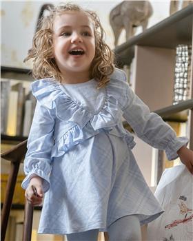 Tutto Piccolo girls dress & tights 9228-20 Blue