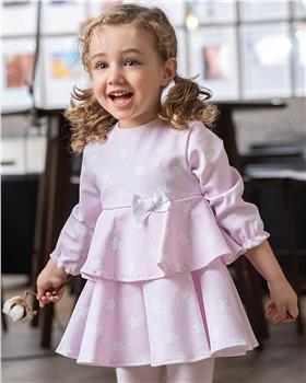 Tutto Piccolo girls dress & tights 9214-20 Pink