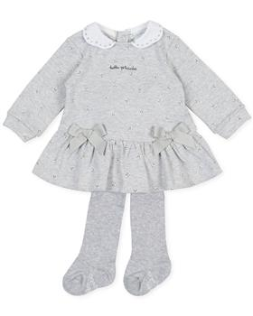 Tutto Piccolo girls dress & tights 9786-20 Grey