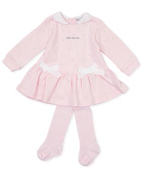 Tutto Piccolo girls dress & tights 9786-20 Pink