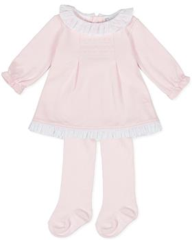 Tutto Piccolo girls dress & tights 9782-20 Pink