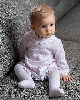 Tutto Piccolo girls dress & tights 9787-20 Pink