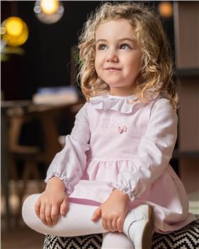 Tutto Piccolo girls dress & tights 9218-20 Pink