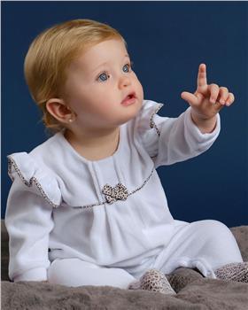 Tutto Piccolo girls babygrow 9184-20 White