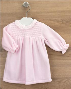 Babidu girls velour dress 19575-20 Pink