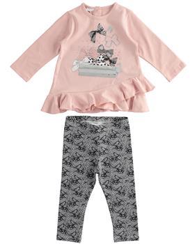 I Do girls bow top & leggings set 41603-20 Pk/Blk
