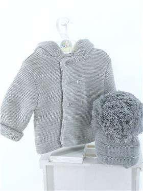 Sardon baby boys knitted hooded jacket 20VE-335 Grey