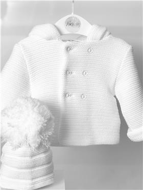 Sardon baby knitted hooded jacket 20VE-335 White