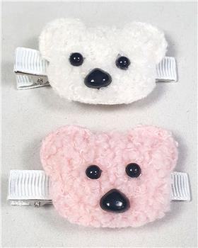 Daga girls teddy face  hairslide A2077-20 grey