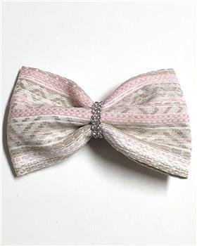 Daga girls tweed bow hairslide A2088-20 pink