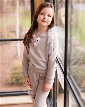Daga girls teddy face jogsuit M7925-7927 grey