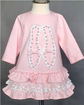 Daga girls ballet pearl shoe dress M7936-20 pink