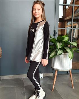 Daga girls tunic top & legging 7992-7993 Black