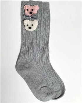 Daga girls teddy face 3/4 sock S2005 Grey