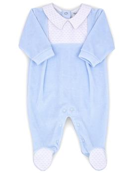 Rapife baby boys velour all-in-one 6010-20 Bl/Wh