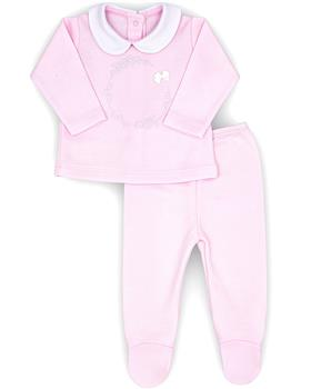 Rapife girls two piece footsie 4301-20 Pink