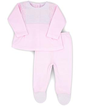 Rapife girls two piece footsie 4501-20 Pink