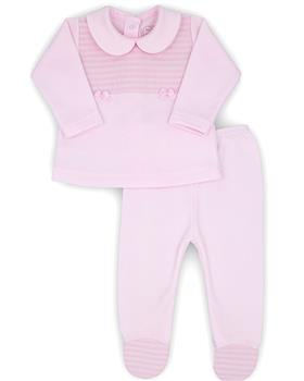 Rapife girls two piece footsie 4601-20 Pink