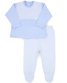 Rapife boys two piece footsie 4702-20 Bl/Wh