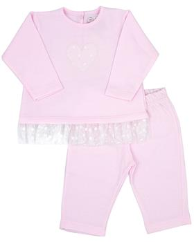 Rapife girls two piece set 4960-20 Pink