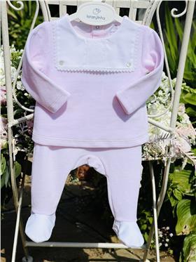 Laranjinha baby girl top & footsie I0061 Pink