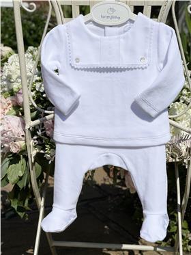 Laranjinha baby neutral top & footsie I0061 White