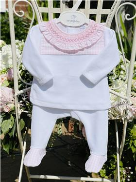 Laranjinha baby girl top & footsie I0040 Pink